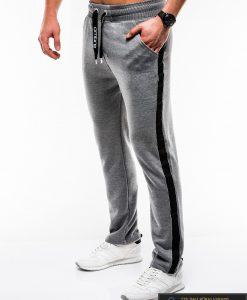 Stilingos vyriskos tamsiai pilkos sportinės kelnės vyrams internetu pigiau P741TP kairė
