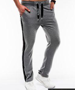 Stilingos vyriskos tamsiai pilkos sportinės kelnės vyrams internetu pigiau P741TP dešinė