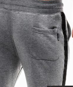 Stilingos vyriskos tamsiai pilkos sportinės kelnės vyrams internetu pigiau P741TP nugara kišenė