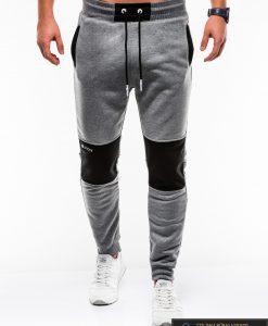Stilingos vyriskos tamsiai pilkos sportinės kelnės vyrams Zerk internetu pigiau P745TP priekis