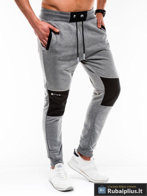 Stilingos vyriskos tamsiai pilkos sportinės kelnės vyrams Zerk internetu pigiau P745TP dešinė