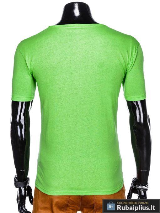 Stilingi žali vyriškimarškinėliai suužrašais Denim vyrams internetu pigiau S1054Z nugara