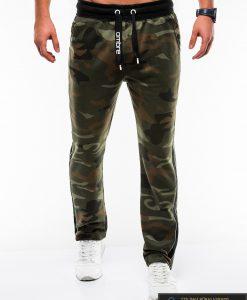 Vyriskos žalios kamufliažinės sportinės kelnės vyrams internetu pigiau P741ZCAM priekis