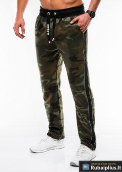 Vyriskos žalios kamufliažinės sportinės kelnės vyrams internetu pigiau P741ZCAM kairė