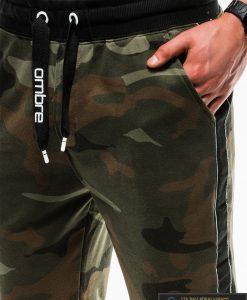 Vyriskos žalios kamufliažinės sportinės kelnės vyrams internetu pigiau P741ZCAM kišenė