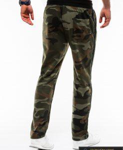 Vyriskos žalios kamufliažinės sportinės kelnės vyrams internetu pigiau P741ZCAM nugara