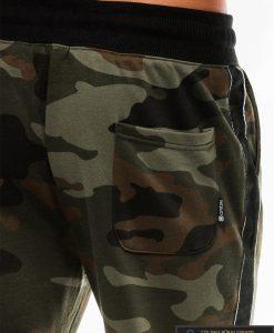 Vyriskos žalios kamufliažinės sportinės kelnės vyrams internetu pigiau P741ZCAM nugara kišenė