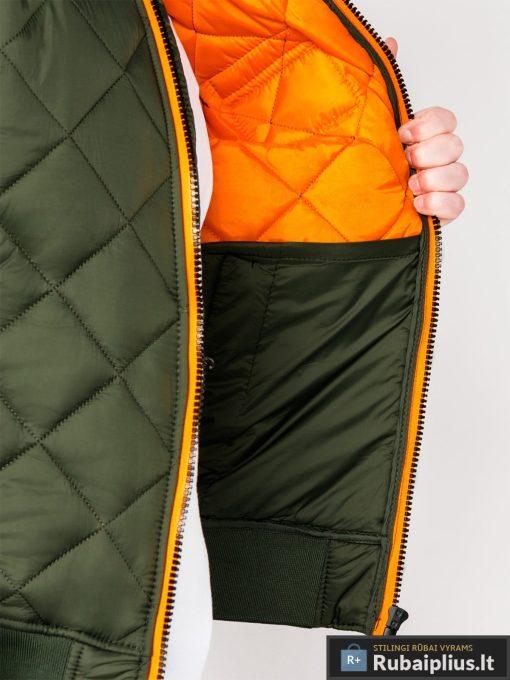 Stilinga alyvuogių pavasarinė vyriška striukė vyrams internetu pigiau C357OL vidus žmogus