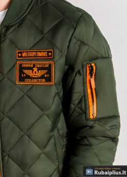 Stilinga alyvuogių pavasarinė vyriška striukė vyrams internetu pigiau C357OL kišenė žmogus