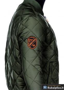 Stilinga alyvuogių pavasarinė vyriška striukė vyrams internetu pigiau C357OL šonas