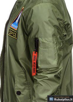 Vyriska pavasarine alyvuogių striukė vyrams bomber internetu pigiau C351OL kišenė