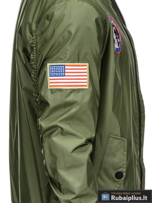 Vyriska pavasarine alyvuogių striukė vyrams bomber internetu pigiau C351OL šonas