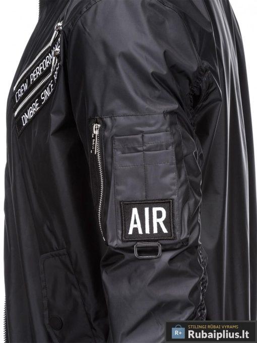 Vyriska pavasarine juoda striukė vyrams internetu pigiau C349J šonas
