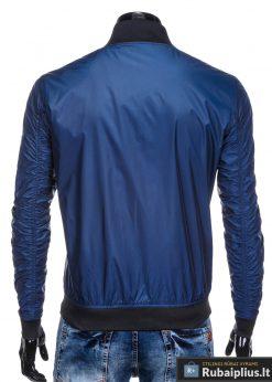 Vyriska pavasarine tamsiai mėlyna striukė vyrams internetu pigiau C349TM nugara