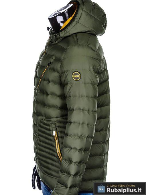 Vyriska pavasarine dygsniuota chaki striukė vyrams internetu pigiau C377CH šonas
