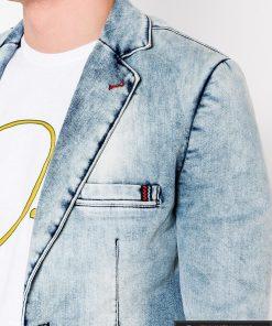 Madingas džinsinis vyriškas švarkas bleizeris vyrams internetu pigiau M115JEANS kišenė
