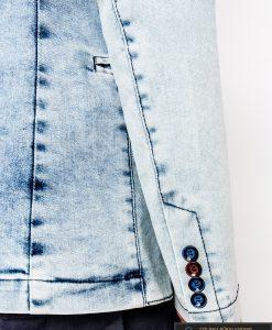 Madingas džinsinis vyriškas švarkas bleizeris vyrams internetu pigiau M115JEANS rankovė