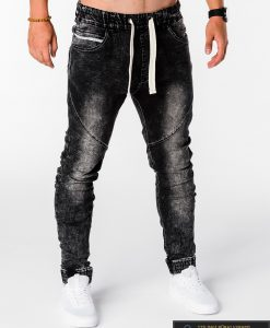 Viriski jogger juodi džinsai vyrams internetu pigiau P174J dešinė