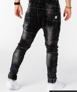 Viriski jogger juodi džinsai vyrams internetu pigiau P174J nugara