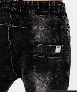 Viriski jogger juodi džinsai vyrams internetu pigiau P174J kišenė
