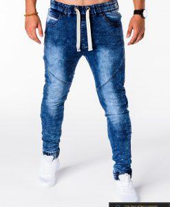 Vyriski jogger mėlyni džinsai vyrams internetu pigiau P174M priekis