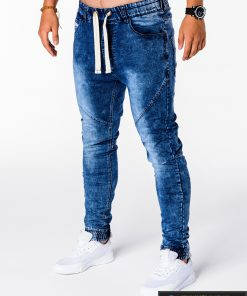 Vyriski jogger mėlyni džinsai vyrams internetu pigiau P174M kairė