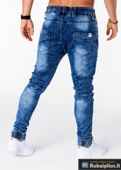 Vyriski jogger mėlyni džinsai vyrams internetu pigiau P174M nugara