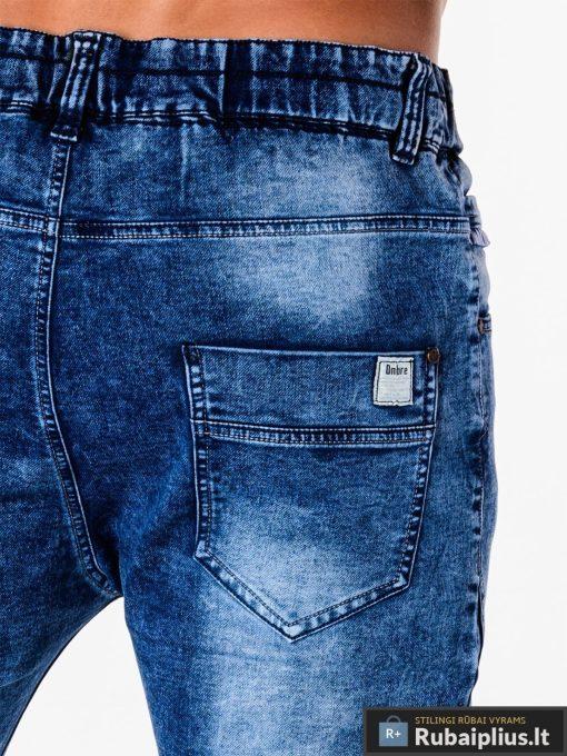 Vyriski jogger mėlyni džinsai vyrams internetu pigiau P174M kišenė