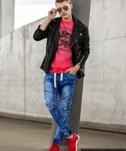 Vyriski jogger šviesiai mėlyni džinsai vyrams internetu pigiau P174SM