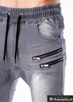 Vyriski jogger pilki džinsai vyrams internetu pigiau P405P kišenė