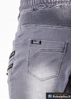 Vyriski jogger pilki džinsai vyrams internetu pigiau P405P nugara kišenė