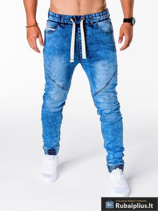 Vyriski jogger šviesiai mėlyni džinsai vyrams internetu pigiau P174SM priekis