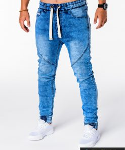 Vyriski jogger šviesiai mėlyni džinsai vyrams internetu pigiau P174SM kairė
