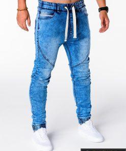 Vyriski jogger šviesiai mėlyni džinsai vyrams internetu pigiau P174SM dešinė