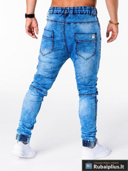 Vyriski jogger šviesiai mėlyni džinsai vyrams internetu pigiau P174SM nugara
