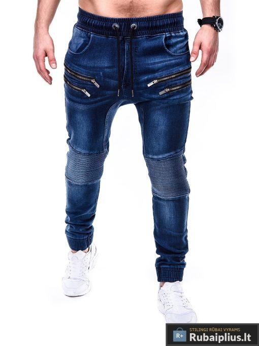 Vyriski jogger tamsiai mėlyni džinsai vyrams P405TM priekis Gusto