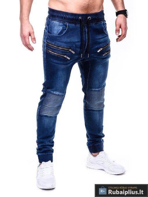 Vyriski jogger tamsiai mėlyni džinsai vyrams P405 dešinė Gusto