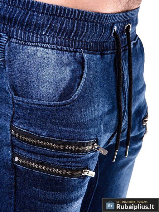 Vyriski jogger tamsiai mėlyni džinsai vyrams P405 kišenė Gusto