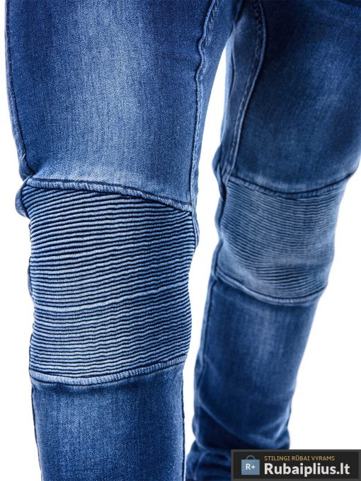 Vyriski jogger tamsiai mėlyni džinsai vyrams P405 koja Gusto