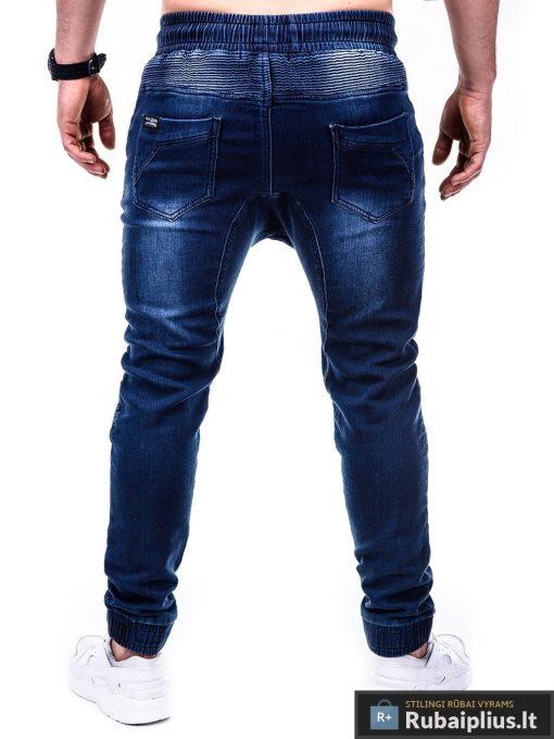Vyriski jogger tamsiai mėlyni džinsai vyrams P405 nugara Gusto
