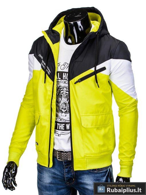 Vyriska pavasarine juoda-geltona striukė vyrams internetu pigiau C316JG kairė