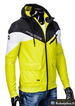 Vyriska pavasarine juoda-geltona striukė vyrams internetu pigiau C316JG dešinė