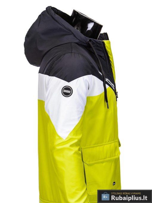 Vyriska pavasarine juoda-geltona striukė vyrams internetu pigiau C316JG šonas