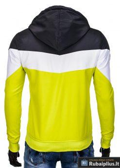 Vyriska pavasarine juoda-geltona striukė vyrams internetu pigiau C316JG nugara