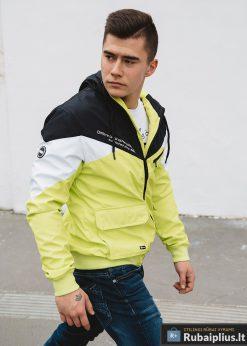 Vyriska pavasarine juoda-geltona striukė vyrams internetu pigiau C316JG žmogus