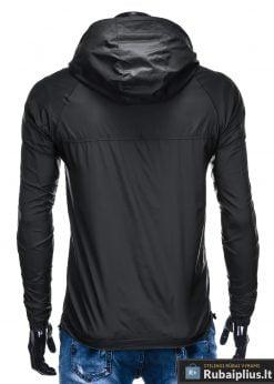 Vyriska juoda pavasarinė striukė vyrams rudenine internetu pigiau C352J nugara