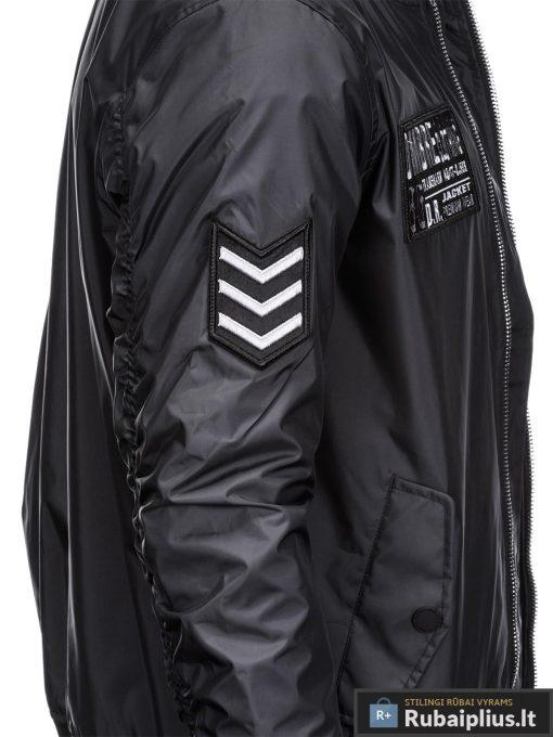Vyriska pavasarine juoda striukė vyrams internetu pigiau C350J šonas