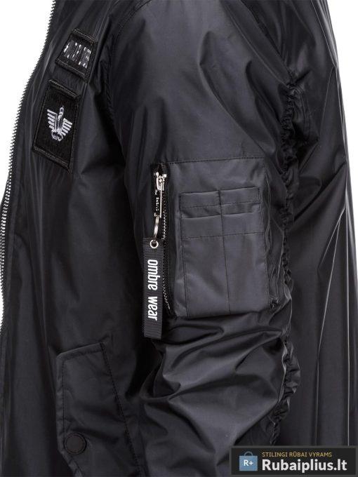 Vyriska pavasarine juoda striukė vyrams internetu pigiau C350J kišenė
