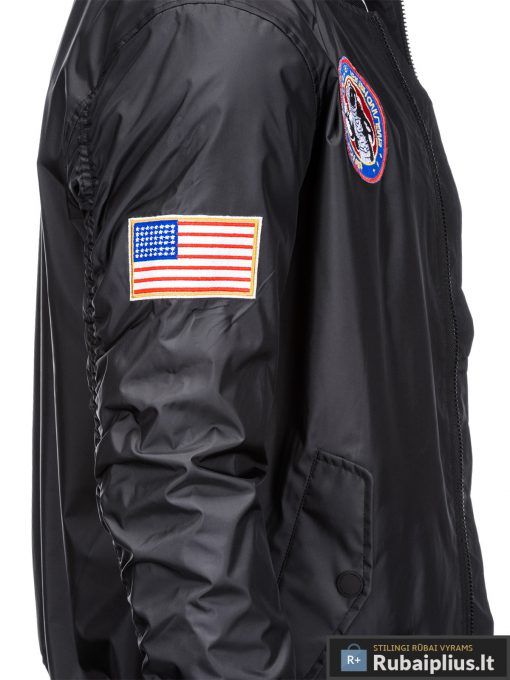 Vyriska pavasarine juoda striukė vyrams bomber internetu pigiau C351J šonas