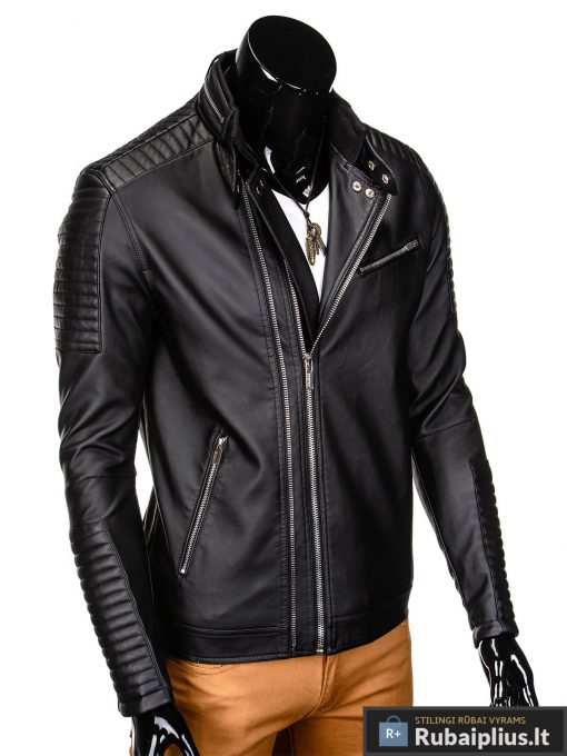 Vyriska pavasarine juoda striukė vyrams dirbtinės odos internetu pigiau C325J dešinė